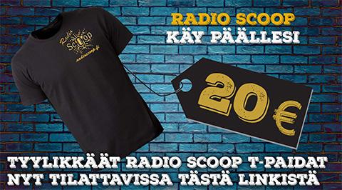 Ennakkotilaa Radio Scoop t-paita!